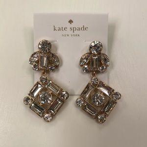 Kate Spade Crystal Chandelier Statement Earrings